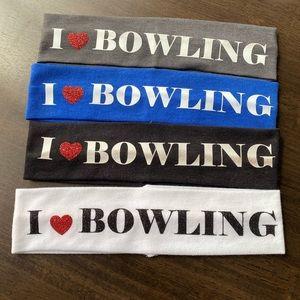 Set of 4 I ❤️ Bowling Headbands